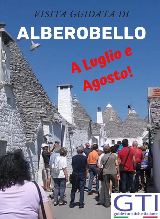 Miniatura per l'articolo intitolato:Visite guidate ad Alberobello a luglio e agosto!
